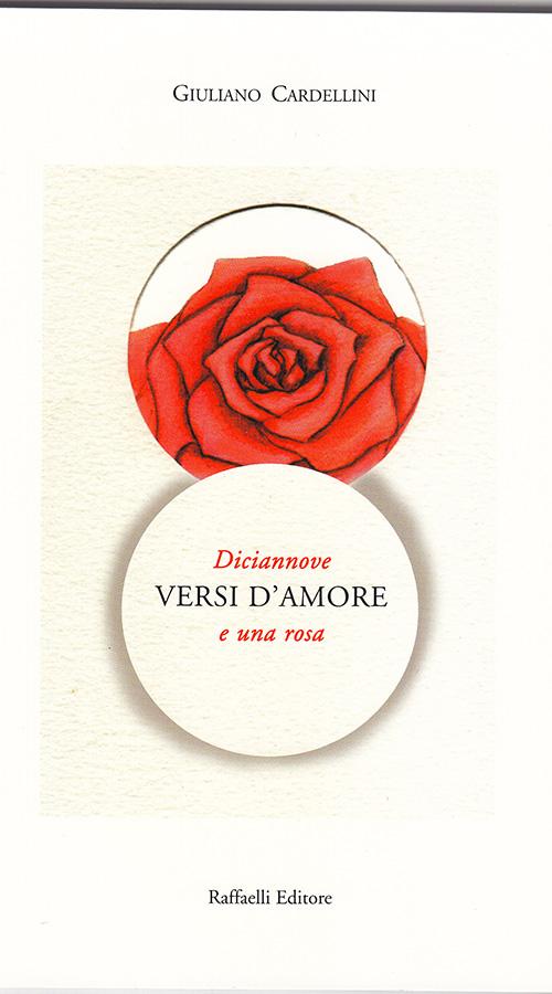 Giuliano Libro Copertina Versi d'amore rosa